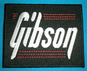 GIBSON GUITAR Patch Iron on Sew Applique Embroidered patches