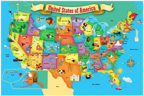 Cheap Fun MasterPieces Puzzle Place First Map of the USA 100 Giant Pieces (B000066673)