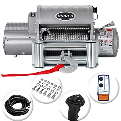 Driver LD12-ELITE Electric Heavy Duty Recovery Winch - 12,000 lb. Capacity - Wireless Remote Control