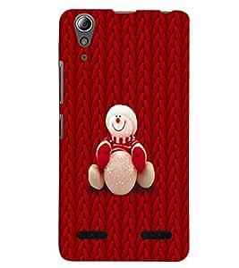 PRINTSWAG TEDDY RED Designer Back Cover Case for LENNOVO A6000