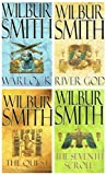 Wilbur Smith Wilbur Smith Egyptian series quartet - 4 books (River God / The Seventh Scroll / Warlock / The Quest rrp £31.96)