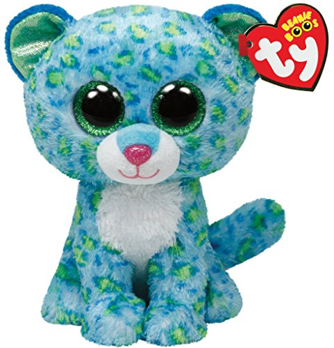 LEONA - blue leopard large (Big Beanie Babies compare prices)