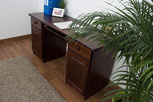 Schreibtisch kiefer massiv vollholz nussfarben 004 for Schreibtisch vollholz
