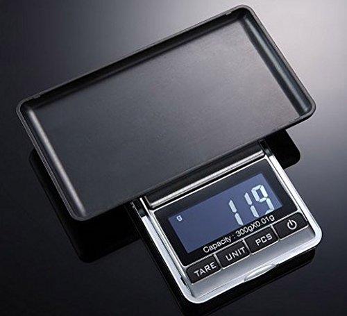 Weiheng WH-DS16 300g/0.01g Mini Balance de bijoux - Balance de haute précision Numérique Portable - Idéale pour peser de l'or, l'argent,bijoux, etc