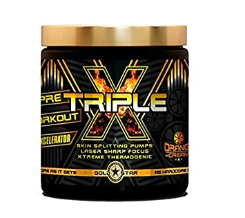 Gold Star - Triple-X Booster Bodybuilding - Pre Workout 300g - 50 Portionen (BLUE Raspberry)