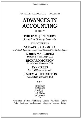 Advances in Accounting, Volume 20