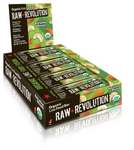 Spirulina Dream Chocolate Protein Bar By Raw Revolution