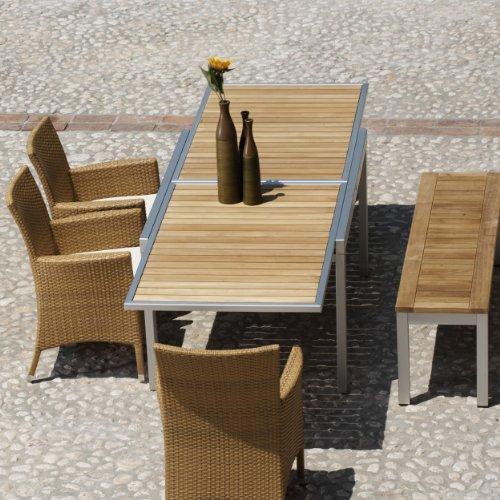 Giga-Tisch-ausziehbar-Gestell-Aluminium-Platte-Teak-140-280-x-90-cm