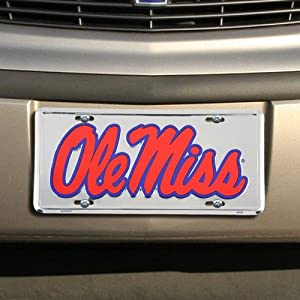 NCAA Mississippi Rebels Metal License Plate
