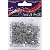 Darice 750-Piece Crystal Hot Fix Glass Stones, 4ml