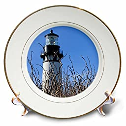 Paul Honatke Photography - Yaquina Lighthouse - 8 inch Porcelain Plate (cp_21907_1)