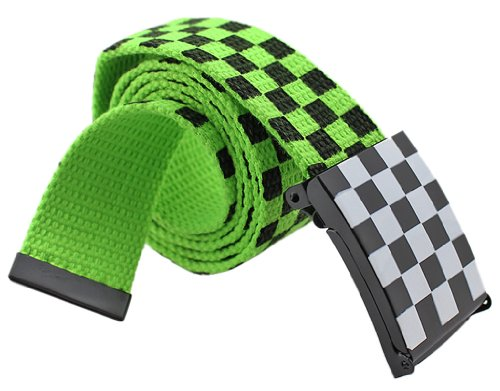 BONAMART ®Men Women Unisex Street Hip-Hop Punk Knit Canvas Web Belt Waistband 105cm