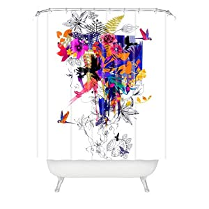 Designer Fabric Shower Curtains Tropical | Silly Decorations