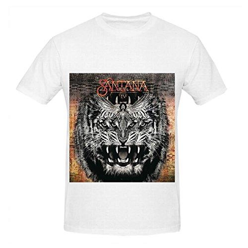 Santana Iv Pop Album Men O Neck Customized T Shirts White