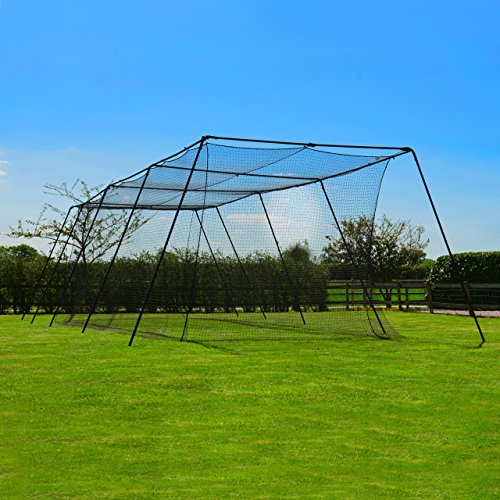 FORTRESS Trapezoid Baseball Batting Cage [Complete Package] - Softball Hitting Cage Net (70ft Cage) (Batting Cage Package compare prices)