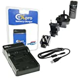 Ex-Pro Canon LC-E8C, LCE8C EZi-Power USB Charger with USB Cable & Worldwide Mains Charger for LP-E8 [See Description for Models]