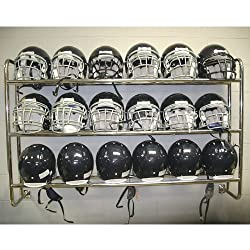 Wall Mounted Helmet Rack - Football