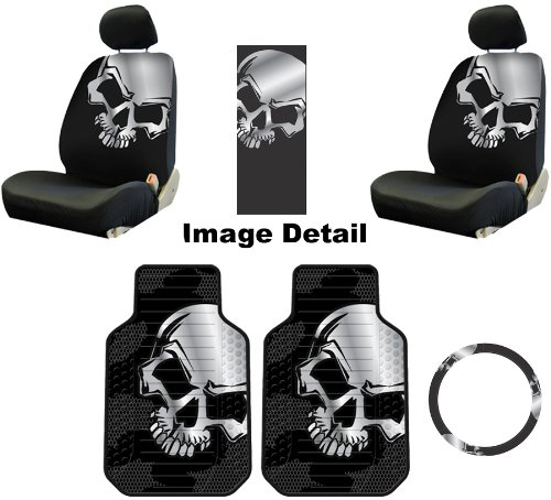 Grey Skull Auto Car Truck SUV Accessories Interior