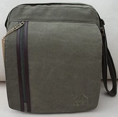 TOP QUALITY Courier or sling style messenger bag in Hard wearing canvas Black travel cabin or hand luggage school