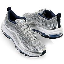 Nike Women Air Max 97 Premium EM color: metallic siver/obsidian/polar 554668-041
