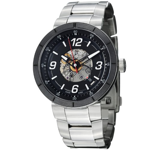 Oris TT1 Skeleton Engine Stainless Steel Automatic Mens Watch 733-7668-4114MB