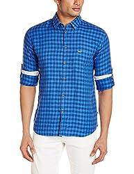 Park Avenue Men's Casual Shirt (8907117069550_PCSA00722-B6_42_Dark Blue)