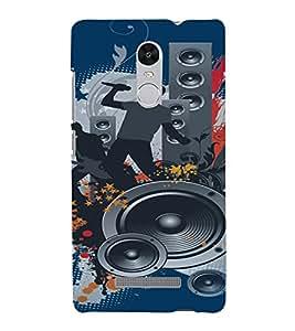 PrintVisa Music Modern Art 3D Hard Polycarbonate Designer Back Case Cover for Xiaomi Redmi Note 3