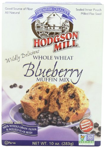 Hodgson Mill Whole Wheat Wild Blueberry Muffin Mix, 10-Ounce Boxes (Pack of 6)