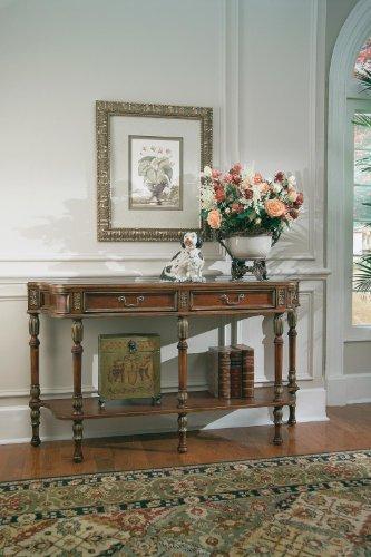 Cheap Hall Console Table (Cherry / Olive Ash Burl / Gold / Brass) (33″H x 60″W x 14″D) (B00515LPAI)