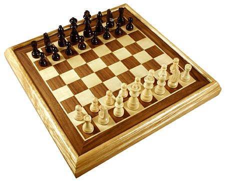 16 deluxe chess set inlaid wood board games w pieces gift new ebay - Deluxe chess sets ...