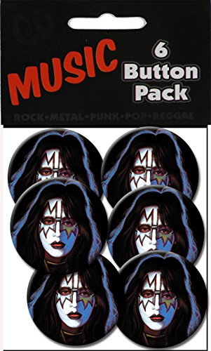 "C&D Visionary Kiss Spaceman Frehley 1.25"" Button (6-Piece)"