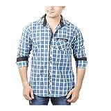 Aedi Men's Casual shirts (GRN43SR_Green_M)