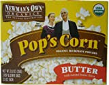 Newman's Own Organics Pop's Corn Organic Microwave Popcorn, Butter, 3-Count Boxes (Pack of 12)