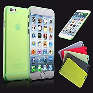 Ultrathin 0.3mm Colorful Scrub PP Case for iPhone 6 (Assorted Color) , White