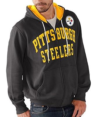 """Pittsburgh Steelers NFL G-III """"Pass Attempt"""" Full Zip Hooded Men's Sweatshirt"""