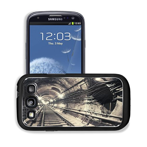 Endless Subway Tunnel Abstract Design Samsung I9300 Galaxy S3 Snap Cover Premium Aluminium Design Back Plate Case Customized Made To Order Support Ready 5 3/8 Inch (136Mm) X 2 7/8 Inch (73Mm) X 7/16 Inch (11Mm) Luxlady Galaxy_S3 Professional Metal Cases T front-1036881