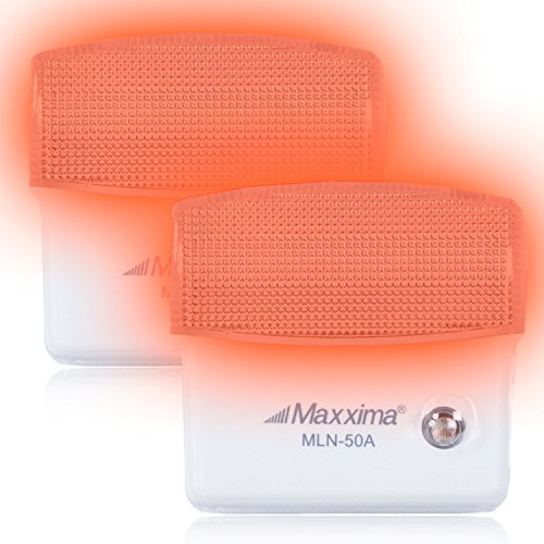 Maxxima MLN-50A Amber LED Night Light With Sensor (Pack of 2) (Light Night Led compare prices)