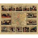 Delineated Map of Europe 1820, Large