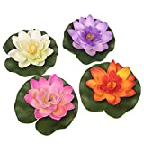 OnePlus Floating Pond Decor Water Lily / Lotus Foam Flower, Small (Set of 4)