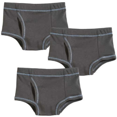 3-Pack Boy Briefs - All Charcoal - 3T front-1024564