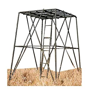 Big game booster stand platform large tree for Deer hunting platforms