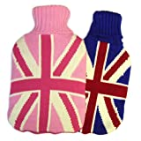 Cassandra Hot Water Bag with Knitted Union Jack Cover