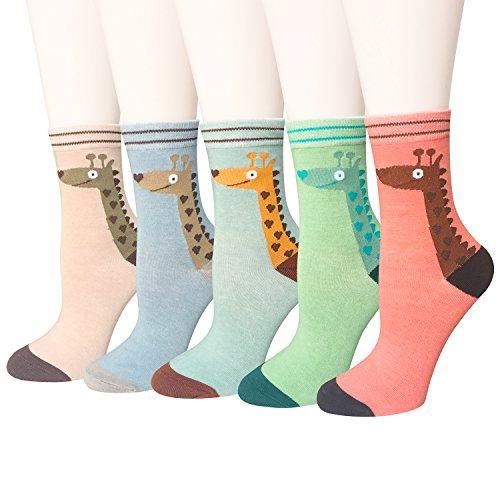 Cute Animal Casual Cotton Crew Socks