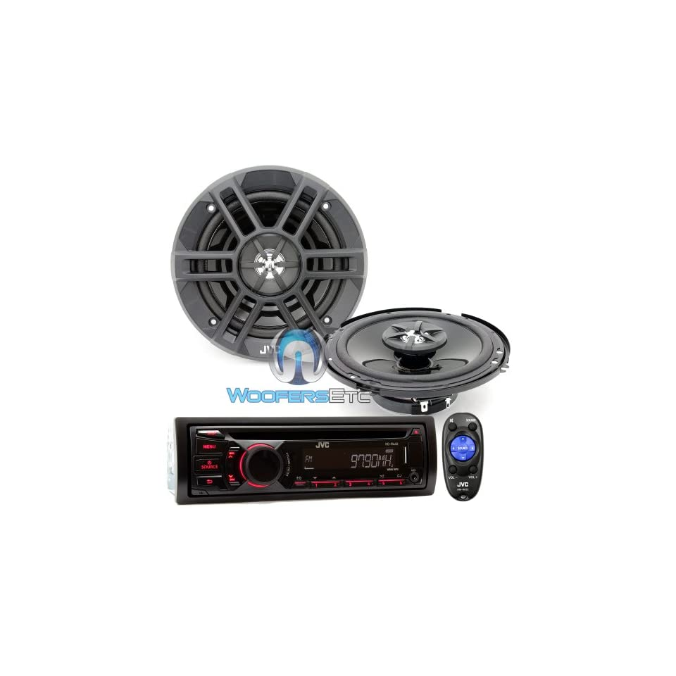 Brand New JVC Package Car Stereo Receiver  WMA CD Player (KD R440) + 6.5 2 way Car Speakers (CS XM621)