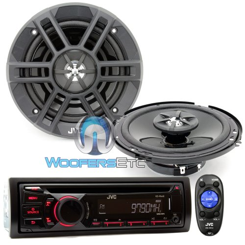 "Brand New Jvc Package Car Stereo Receiver Mp3 Wma Cd Player (Kd-R440) + 6.5"" 2-Way Car Speakers (Cs-Xm621)"