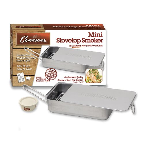 Find Bargain Stovetop Smoker - The Original Camerons Gourmet Mini Stainless Steel Smoker with Wood C...