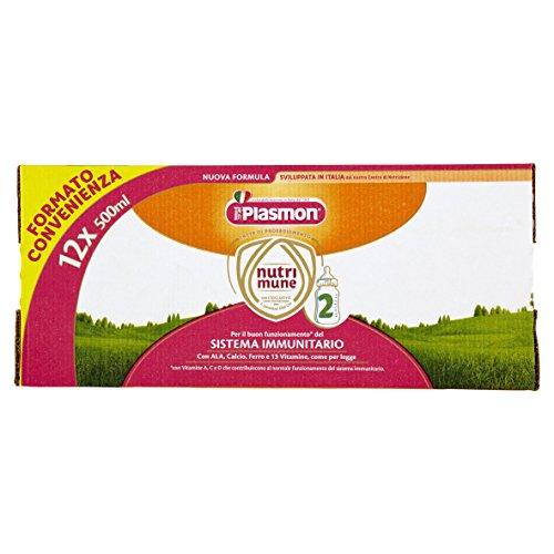 Plasmon Latte Liquido Nutri Mune 2 - 6 confezioni da 1 l - Totale: 6 l