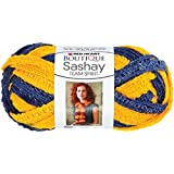 Coats Yarn Red Heart Boutique Sashay Team Spirit Yarn, Navy/Gold
