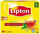 Lipton Black Tea, 100% Natural, Tea Bags, 48-Count Boxes (Pack of 12)