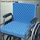 `Eggcrate Wheelchair Cushion with Back 18